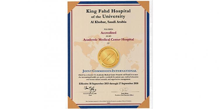 JCI Accreditation Certificate