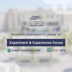 Academic Departments' Heads 1st Experiment and Experiences Forum