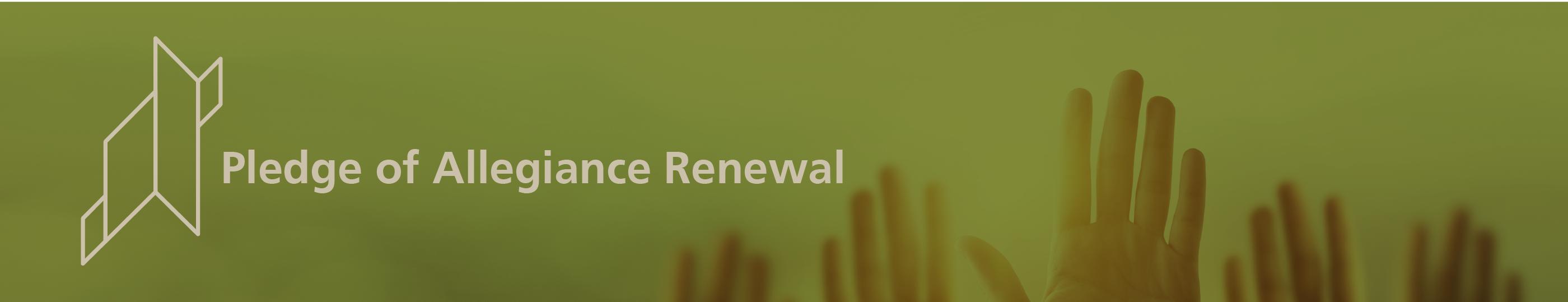 Pledge of Allegiance Renewal